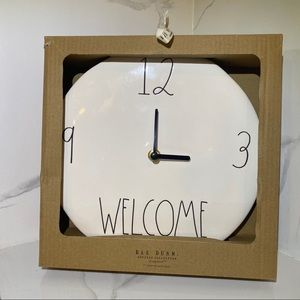 Rae Dunn (Welcome) Ceramic Wall Clock